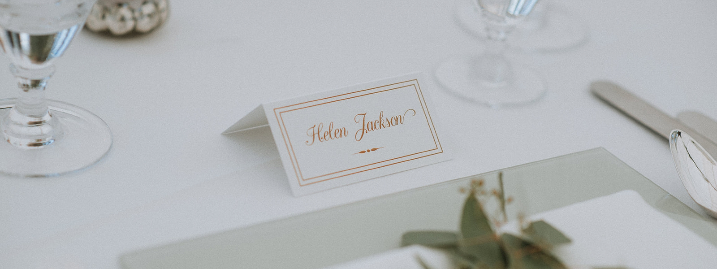 Classic place card - photo courtesy of Lusina Photography