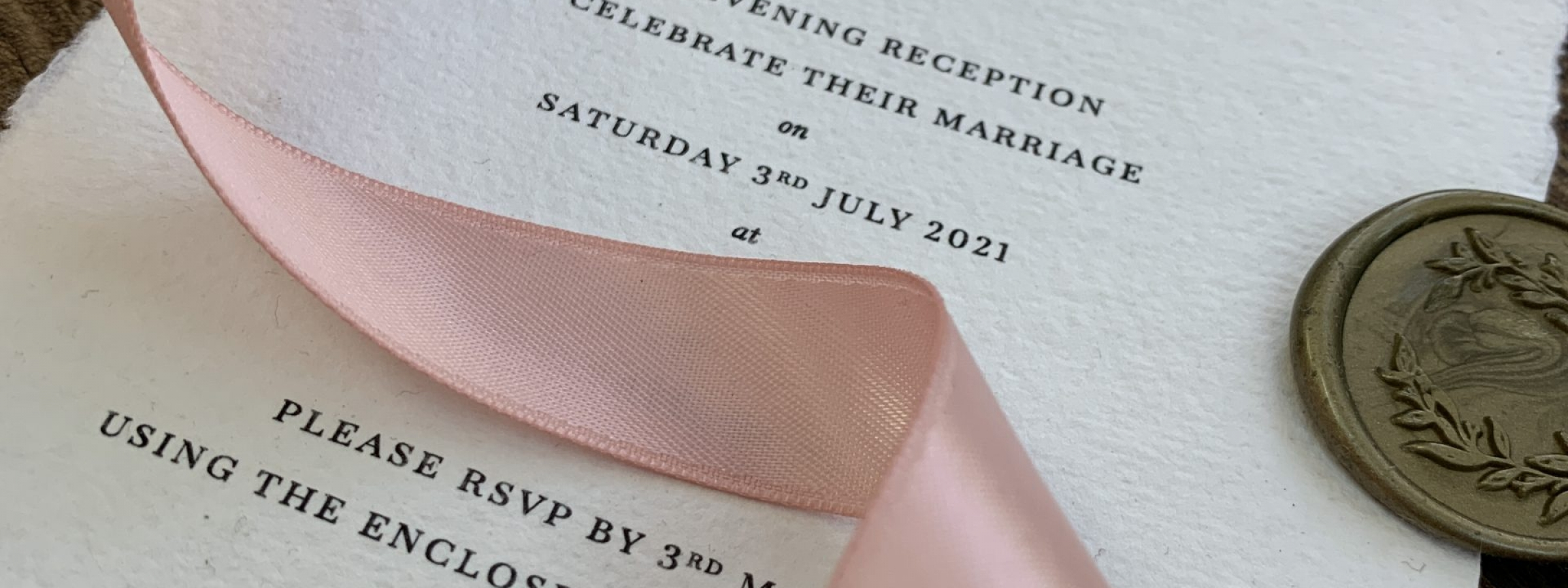Handmade paper, rustic wedding invitation
