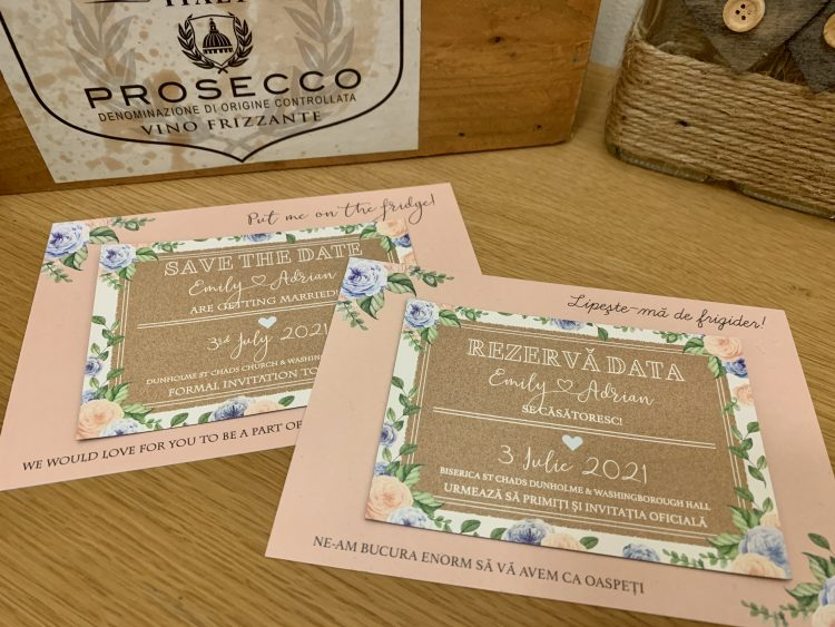 Bilingual save the dates
